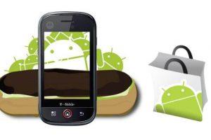 Final do suporte para Android Eclair no Android Market