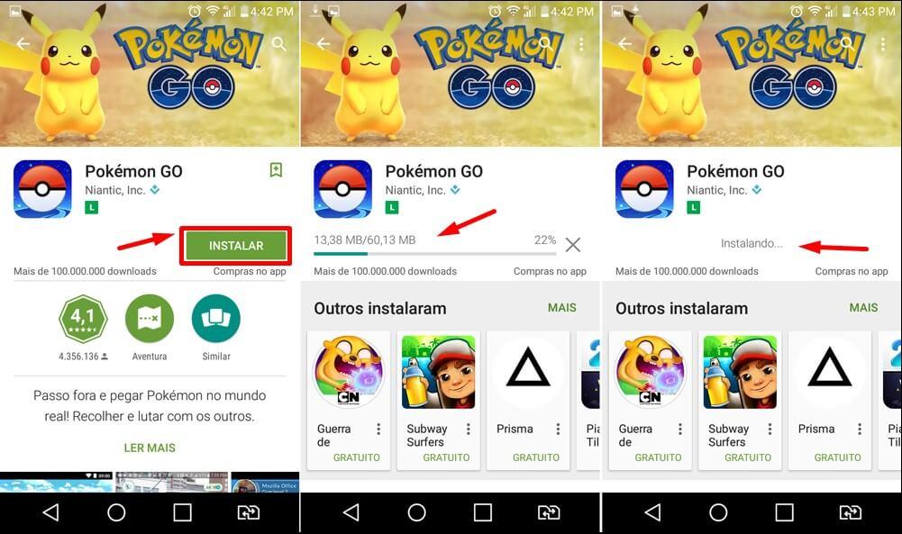Baixar Pokemon GO Play Store 2