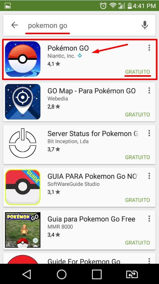 Baixar Pokemon GO Play Store 1