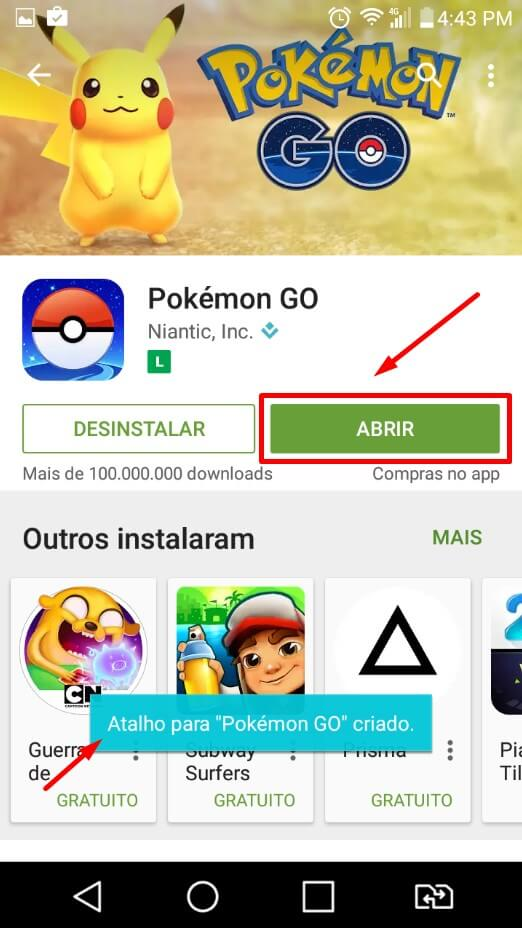 Baixar Pokemon GO Play Store 3