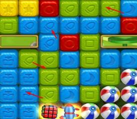 Toy Blast é um game de raciocínio, estilo blocos