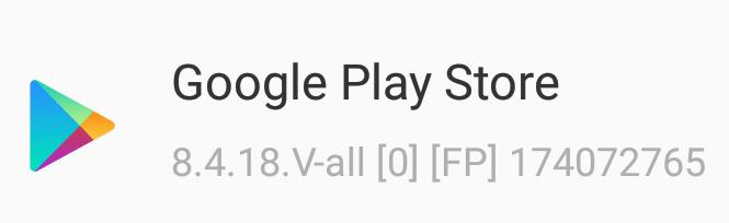 Google Play Store recebe nova versão 8.4.19