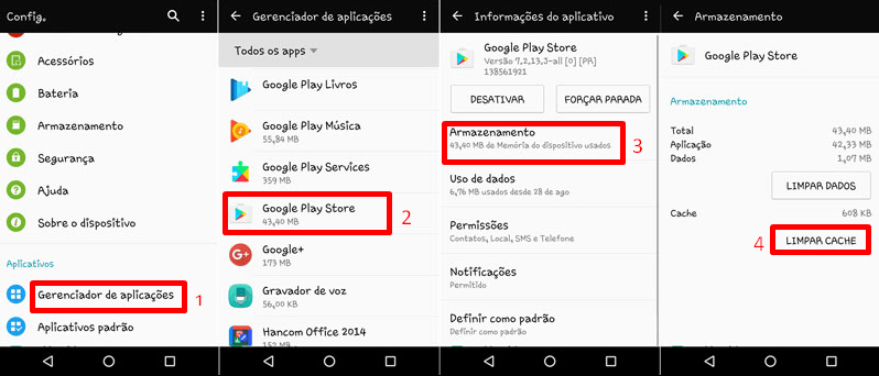 resolver erros de conexao da Play Store