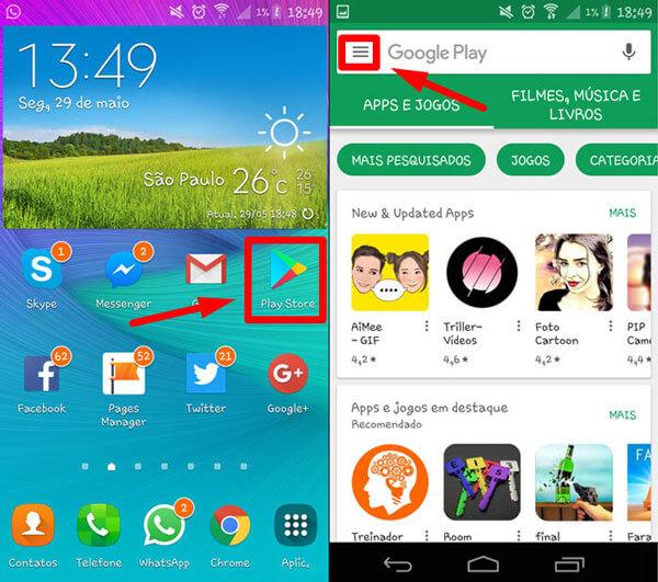 Como fazer o Android solicitar senha do Google Play antes de uma compra 1