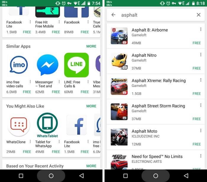 Google Play Store passa a mostrar tamanho dos aplicativos nos resultados de busca